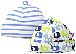 Zutano Baby Elephants Hat Set, Enzo, 6 Months