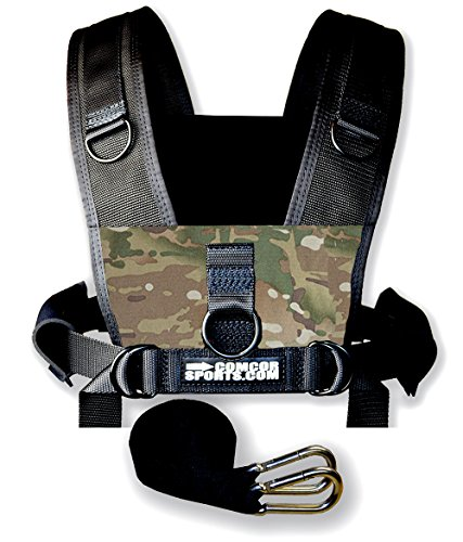 Sled Harness by ComCor - 2-3 Day Shipping! Limited-Time Sale!!! (Camo) (Weight Sled Shoulder Harness compare prices)