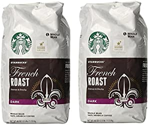Starbucks French Roast Whole Bean Coffee, 40-Ounce (2 Bags)