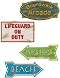 Beach Sign Cutouts Party Accessory (1 count) (4/Pkg)