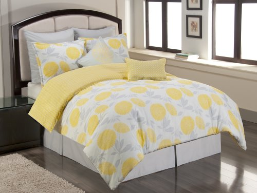 Sunset and Vine Briar Cliff 8-Piece Comforter Set, Yellow/Grey