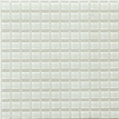 Glass Mosaic TILE for Bathroom, Kitchen, Backsplash, Wall - Piazza Series, Crystal Ice (Sample)