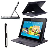 i-Blason Slim-fit Cover Case for Kindle Fire HDX 8.9 Inch Tablet (Not Compatible with Kindle Fire HD 8.9 2012 Release)--Lifetime Warranty (Black)