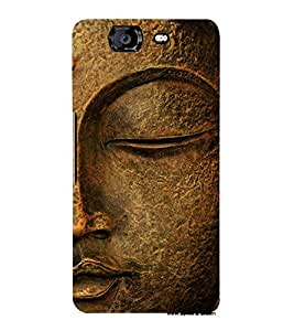 Gautam Buddha 3D Hard Polycarbonate Designer Back Case Cover for Micromax Canvas Knight A350
