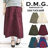 (ドミンゴ) D.M.G 高密度ウェザー ロング タック イージー スカート 17-347x F ダークグリーン(49-1)