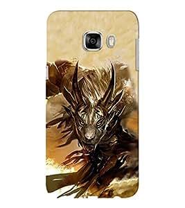 EPICCASE Demon goat Mobile Back Case Cover For Samsung C5 (Designer Case)
