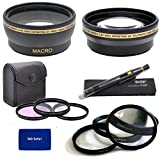52mm Multi Coated 3 Piece Digital Filter Kit (UV-CPL-FLD) + Close-Up Macro Filter Set +1 +2 +4 +10 + 0.43x Professional HD Auto Focus Wide Angle Lens with Macro & Pro Series 2.2x High Definition AF Telephoto Lens + Lens Cleaning Pen + rnd Microfiber Cloth For The Nikon D5200 Digital SLR Camera Which Have Any Of These (18-55mm 55-200mm 50mm) Nikon Lenses
