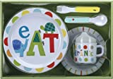 Jill McDonald Kids Melamine Dinnerware Set, Alphabet Animals