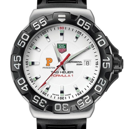 TAG HEUER watch:Princeton University TAG Heuer Watch - Men's Formula 1 with Rubber Strap at M.LaHart Images
