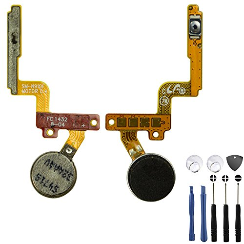 Samsung Galaxy Note 4 Power Button Flex Cable Note 4 Power Button Replacement Note 4 Vibration Motor with Premium BinTEK Tool Kit
