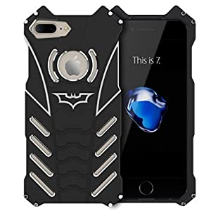 iPhone Case, Shockproof Anti-drop Aerospace Aluminum Metal Batman Iron Man Bumper Lightweight Cool Design Back Cover for Apple iPhone at Gotham City Store