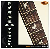 Fretboard Markers Inlay Sticker Decals for Guitar Bass - Dove (WS)