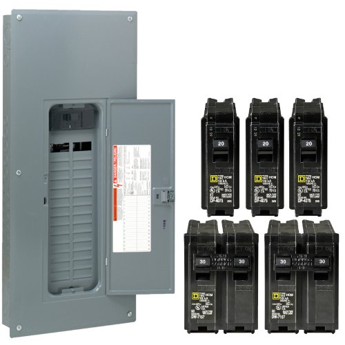 Square D By Schneider Electric Hom3040M200Vp Homeline 200-Amp 30-Space 40-Circuit Indoor Main Breaker Load Center With Cover Value Pack