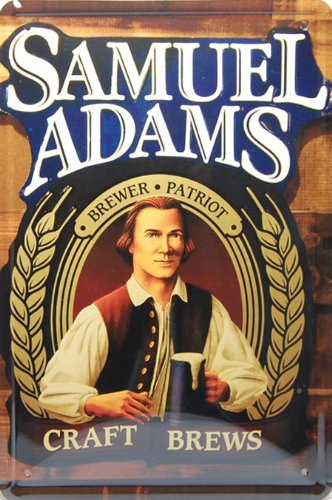 (Hot Sale) Samuel Adams Beer, Metal Tin Sign, Tin Poster, Art Vintage Style Wall Ornament Coffee Decor, 20 X 30 Cm. (Sam Adams Beer Sign compare prices)