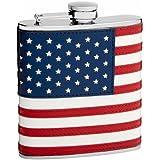 Top Shelf Flasks Stitched American Flag Flask, 6 oz