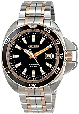 Citizen Men's NB1036-50E Grand Touring Analog Display Automatic Self Wind Two Tone Watch