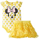 Disney Baby Girls' Dandelion Minnie Mouse Skirt Set