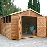 10ft x 10ft Overlap Apex Wooden Storage Shed - Brand New 10x10 Wood Sheds