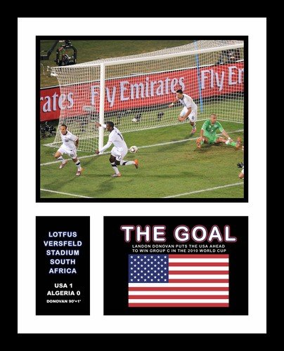 All About Autographs Inc. AAA-51501 Landon Donovan USA Framed Photograph 2010 World Cup The Goal Celebration Milestone