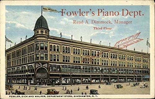 Fowler, Dick And Walker Department Store Binghamton, Ny Original Vintage Postcard