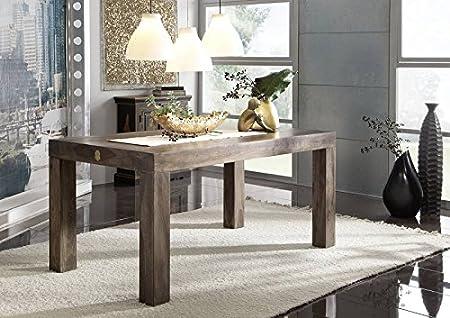Meubles en bois de sheesham massif cubus table 160 x 90 gris palissandre massivmöbel metro polis - 170