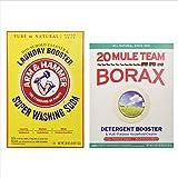 Mule Team Borax 65oz and Arm & Hammer Super Washing Soda 55oz. Variety Pack