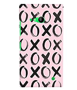 Nokia Lumia 730 MULTICOLOR PRINTED BACK COVER FROM GADGET LOOKS