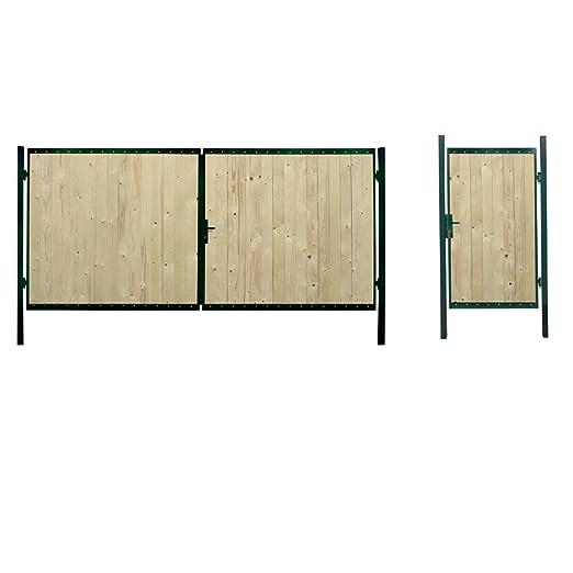 rosenbogen mit tor holz selber bauen. Black Bedroom Furniture Sets. Home Design Ideas
