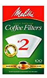 Melitta White Coffee Filter, #2 - 100 Count
