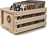 Crosley AC1004A-NA Record Storage Crate Holds up to 75 Albums (Natural)