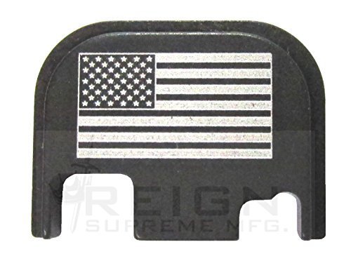RSM USA FLAG Rear Slide Cover Plate For GLOCK Gen 1 2 3 4 ALL MODELS 17 19 20 21 23 25 26 27 29 30 31 32 33 34 35 36 9mm 10mm .357 .40 .45 by RSM_USA (Glock Slide Plate Cover compare prices)