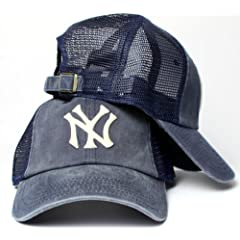 New York Yankees MLB American Needle Raglan Bones Soft Mesh Back Slouch Twill Cap... by American Needle