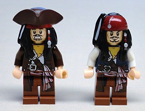 2 LEEGO Jack Sparrow Minifigs Pirates of the Caribbean 4195 4194 4183 (Leego Inc compare prices)