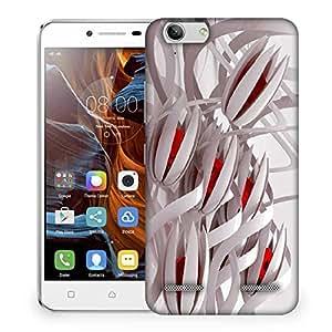 Snoogg Abstract White Flower Designer Protective Phone Back Case Cover For Lenovo K5 Vibe