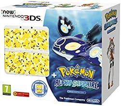 New Nintendo 3DS + Pokemon Alpha Sapphire + Coverplate (White)