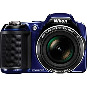 Nikon Coolpix L810 Digital Camera (Blue) with 8GB Card + Batteri