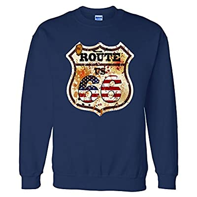 Sweater: Route 66 Vintage US Flag