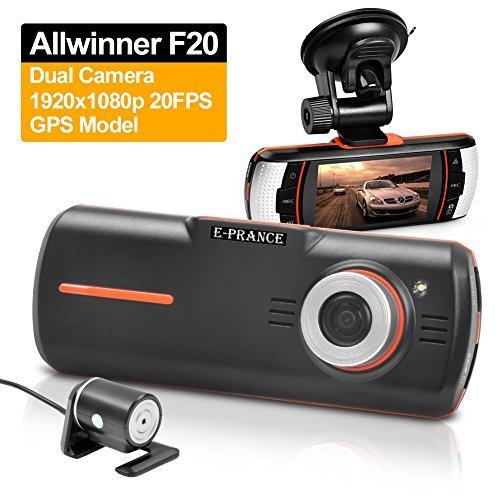 "E-Prance® F90 Hd 1080P Car Dvr Dual Camera 2.7"" Tft Lcd Screen G-Sensor Gps Logger"