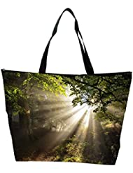 Snoogg Abstract Sunlight In Forest Designer Waterproof Bag Made Of High Strength Nylon