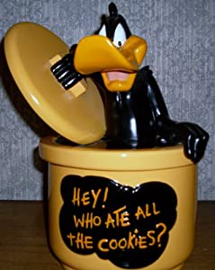 """WB Daffy Duck """"Who Ate All The Cookies"""" Cookie Jar"""