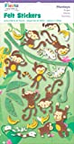 Fiesta Crafts Monkey Felt Stickers Pack of 6