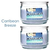Hosley Set of 2 Caribbean Breeze Highly Scented, 2 Wick, 10 Oz wax, Jar Candle. We Hand Pour Our Candles Using a High Quality Wax Blends with Essential Oil Infused Fragrance Ingredients to Create a Highly Fragranced Aroma. Ideal for Spa, Aromatherapy and Everyday Use.