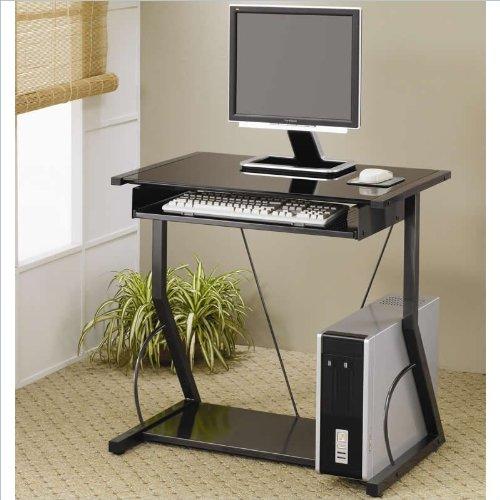 Coaster Home Furnishings Transitional Computer Desk, Black front-757486