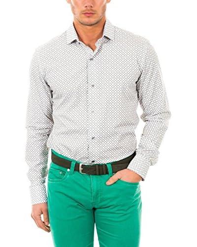 McGregor Camisa Hombre Lisca Bruce 4 Tf Ls Blanco / Gris