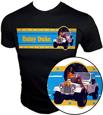"""Vintage Sexy Daisy Duke The Dukes of Hazzard """"Dixie"""" Jeep CJ7 t-shirt"""