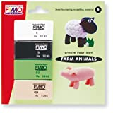 Farm Animals making Kit clay type Fimo Soft