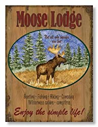 Moose Lodge by Debi Hron Cabin Décor Fine Art Print 12x16
