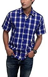 SYDA Mens Purple Check Shirt