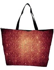Snoogg Abstract Circles Patterns Designer Waterproof Bag Made Of High Strength Nylon
