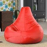 Designer Recliner Gaming Bean Bag RED - Indoor & Outdoor Beanbag Chair (Water Resistant) by Bean Bag Bazaar®